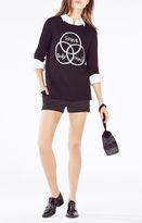 BCBGMAXAZRIA Intarsia Mind-Body-Spirit Sweater