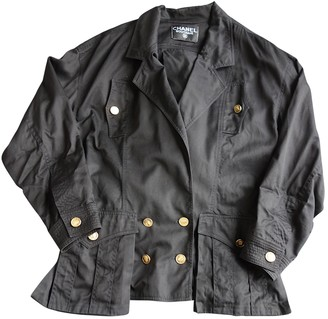 Chanel Black Cotton Leather jackets