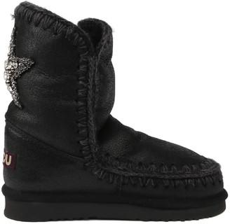 Mou Eskimo 24 Star Patch Boots In Sheepskin