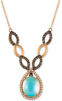 LeVian Le Vian Chocolatier Neopolitan Opal (2-1/3 ct. t.w.) and Diamond (5/8 ct. t.w.) Statement Necklace in 14k Rose Gold