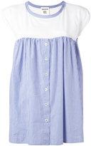 Semi-Couture Semicouture pinstripe pleated blouse