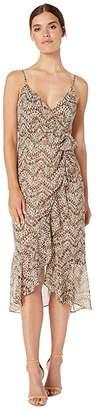 Bardot Ellie Maxi Dress (Animal Abstract) Women's Clothing