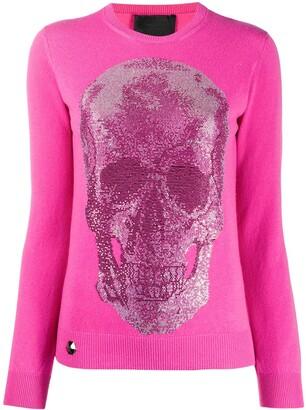 Philipp Plein Skull-Studded Sweater