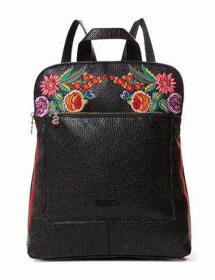 Desigual Bag Mex Nanaimo Women Womens Backpack Handbag Black (Negro) 11x35x28 cm (B x H T)