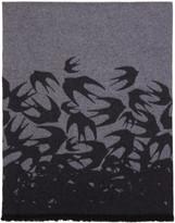 McQ Grey Swallow Scarf