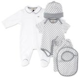 Armani Junior Cotton Five-Piece Layette Set, Gray, Size 3-12 Months