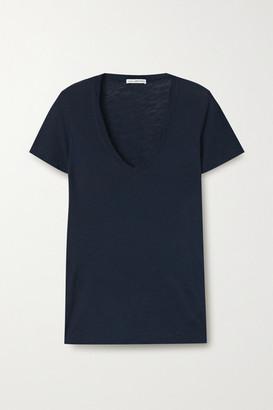 James Perse Slub Supima Cotton-jersey T-shirt - Navy