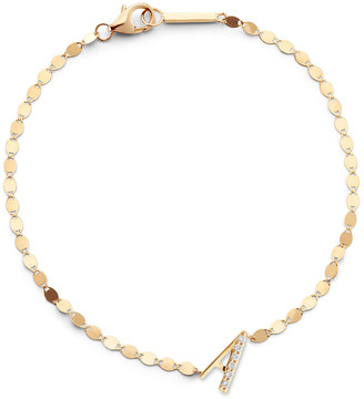 Lana 14k Diamond Initial Bracelet.