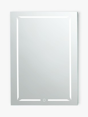 John Lewis & Partners Wireless Sound Single Mirrored and Illuminated Bathroom Cabinet