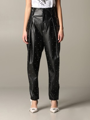 Liu Jo Trousers With All-over Rhinestones