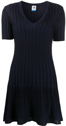 M Missoni Ribbed-Knit Flared Dress