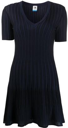 M Missoni Ribbed-Knit Flared Dress