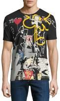 Eleven Paris Men's Stencil Graffiti T-Shirt