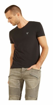 GUESS Men's Logo V-Neck Tee