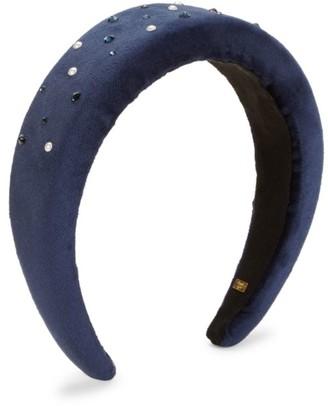 Bari Lynn Crystal Sequin Velvet Headband