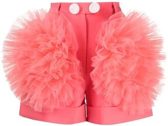 Loulou Ruffled Tulle Tailored Shorts