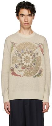 GmbH Off-White Wool Zodiac Sweater