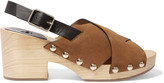 Castaner Zane studded leather and suede clogs