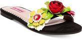 Betsey Johnson Adilyn Floral Slide Sandals