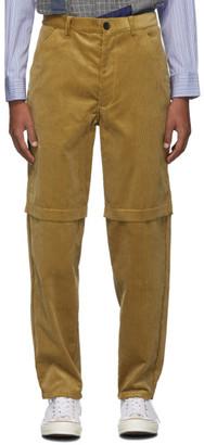 Comme des Garçons Shirt Beige Corduroy 2-Layer Trousers