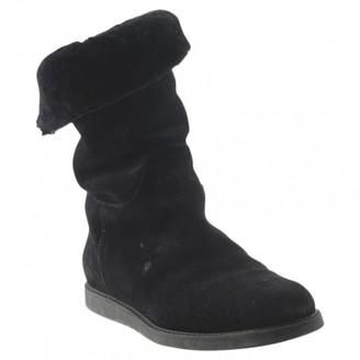 Salvatore Ferragamo \N Black Suede Ankle boots