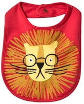 Joules Red Embroidered Lion Bib