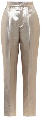 Dundas High-rise straight silk-blend pants