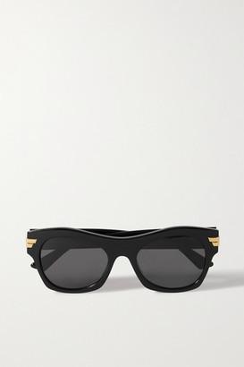 Bottega Veneta Square-frame Acetate Sunglasses - Black