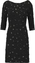 Jenny Packham Beaded crepe mini dress