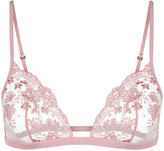 STOLEN ROSES Triangle bra in embroidered tulle