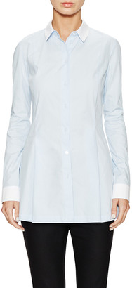 Ji Oh Contrast Classic Collared Shirt