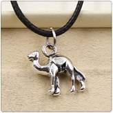 Nobrand No brand Fashion Tibetan Silver Pendant camel Necklace Choker Charm Black Leather Cord Handmade Jewlery