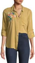 Velvet Heart Elisa Embroidered Button-Up Blouse