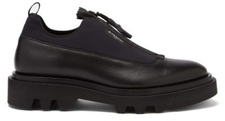 Givenchy Zipped Leather And Neoprene Shoes - Black