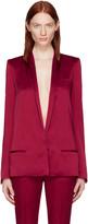 Haider Ackermann Red Satin Classic Blazer