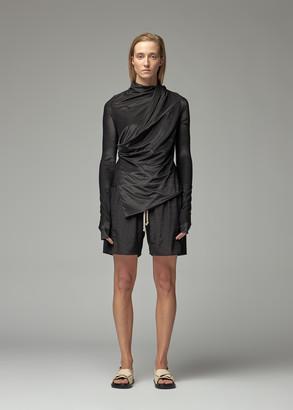 Rick Owens Lilies Women's Lurex Wrap Jacket Top in Black Size 40