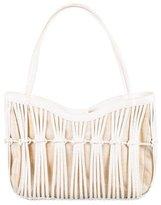 Nancy Gonzalez Snakeskin & Canvas Bag