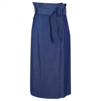 Tibi Blue Cotton Skirt for Women
