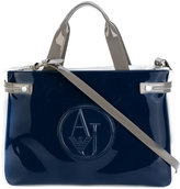 Armani Jeans embossed logo tote bag - women - Polyester/PVC - One Size