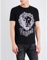 Versace Versus Studded Lion Cotton-jersey T-shirt