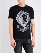 Versus Studded Lion Cotton-jersey T-shirt
