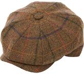Christy Christys' Eight Piece Wool Tweed Baker Boy Cap, Brown/Multi