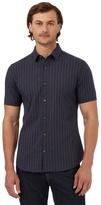 J By Jasper Conran Big And Tall Navy Grid Patterned Slim Fit Shirt