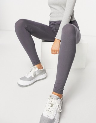 Public Desire leggings with seam detail co-ord in grey blue