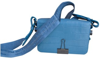 Off-White Binder Blue Leather Handbags