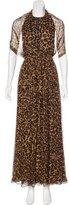 Gucci Silk Leopard Print Gown