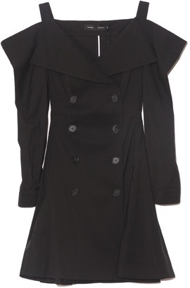 Proenza Schouler Parachute Suiting Trench Dress in Black