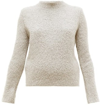 Gabriela Hearst Phillipe Cashmere Blend Boucle Round Neck Sweater - Womens - Beige
