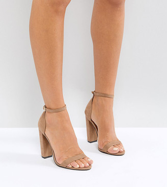 ASOS DESIGN Highball barely there Block Heeled sandals