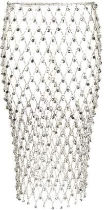 Paco Rabanne rhinestone chain mesh skirt